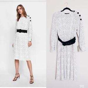NWT ZARA | polka dot belted dress